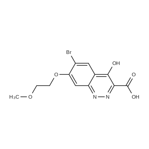 6-Bromo-4-hydroxy-7-(2-methoxyethoxy)cinnoline-3-carboxylic acid