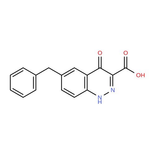6-Benzyl-4-oxo-1,4-dihydrocinnoline-3-carboxylic acid