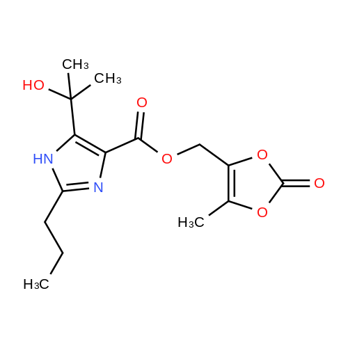 (5-Methyl-2-oxo-1,3-dioxol-4-yl)methyl 5-(2-hydroxypropan-2-yl)-2-propyl-1H-imidazole-4-carboxylate
