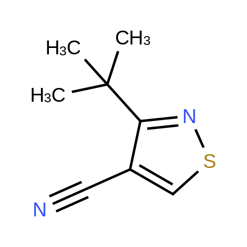 3-(tert-Butyl)isothiazole-4-carbonitrile
