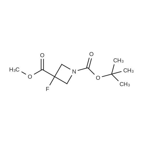 1-tert-Butyl 3-methyl 3-fluoroazetidine-1,3-dicarboxylate