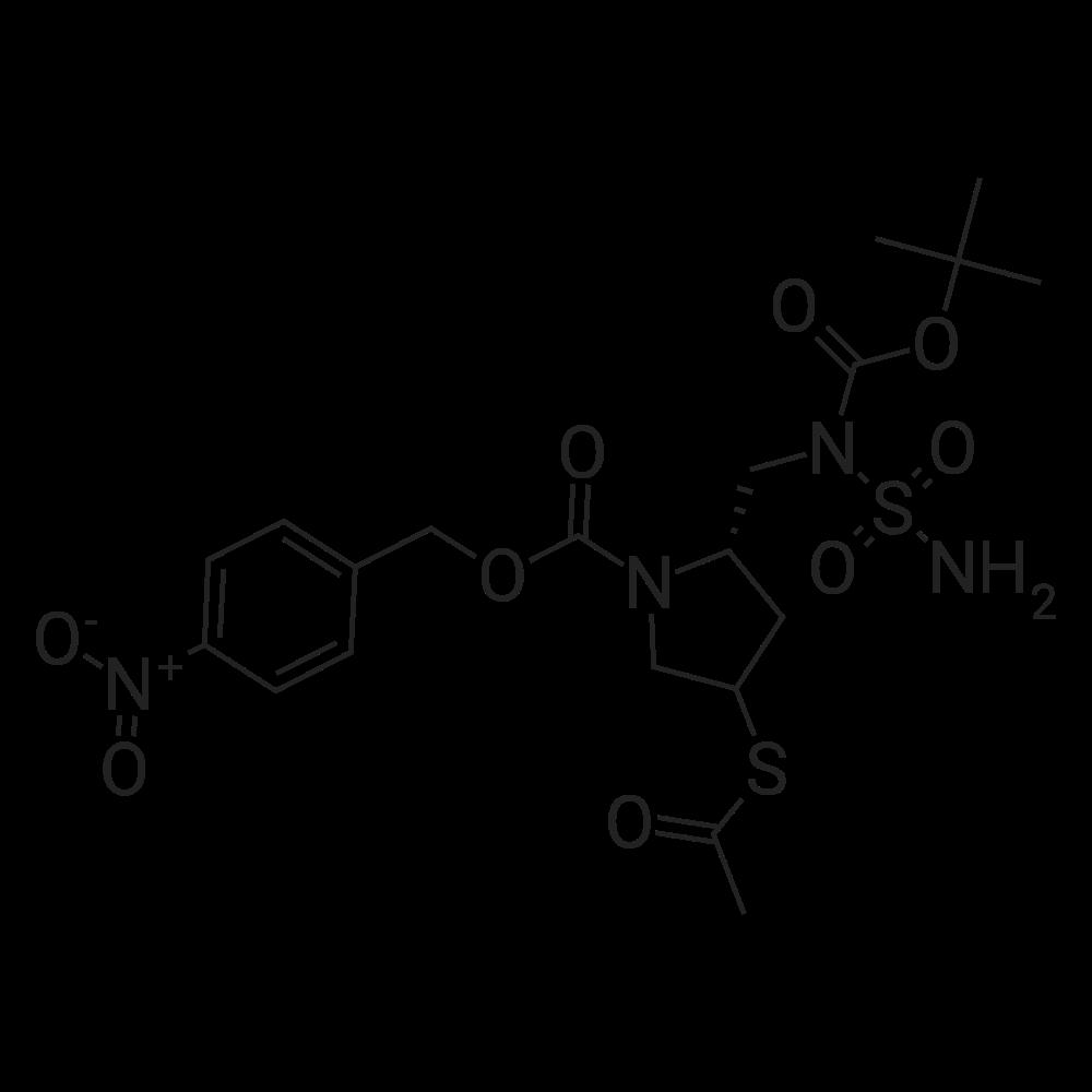 (2S,4S)-4-Nitrobenzyl 4-(acetylthio)-2-(((tert-butoxycarbonyl)(sulfamoyl)amino)methyl)pyrrolidine-1-carboxylate