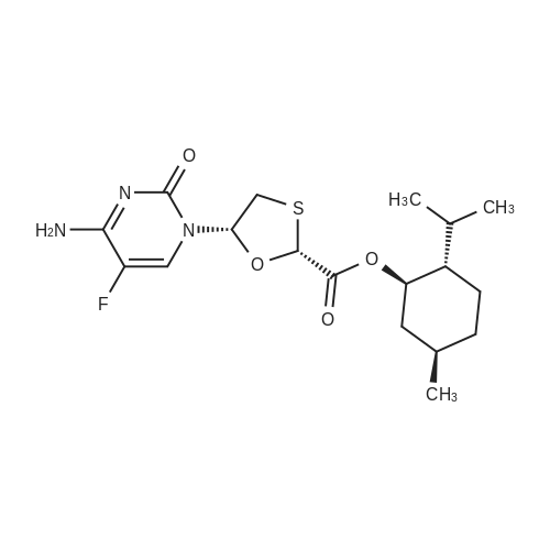 (2R,5S)-(1R,2S,5R)-2-Isopropyl-5-methylcyclohexyl 5-(4-amino-5-fluoro-2-oxopyrimidin-1(2H)-yl)-1,3-oxathiolane-2-carboxylate