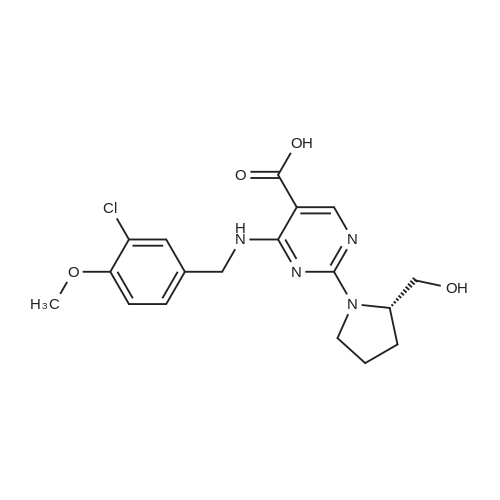 (S)-4-((3-Chloro-4-methoxybenzyl)amino)-2-(2-(hydroxymethyl)pyrrolidin-1-yl)pyrimidine-5-carboxylic acid