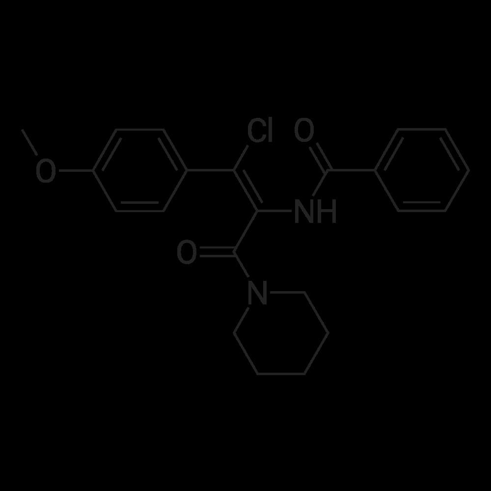 (Z)-N-(1-Chloro-1-(4-methoxyphenyl)-3-oxo-3-(piperidin-1-yl)prop-1-en-2-yl)benzamide