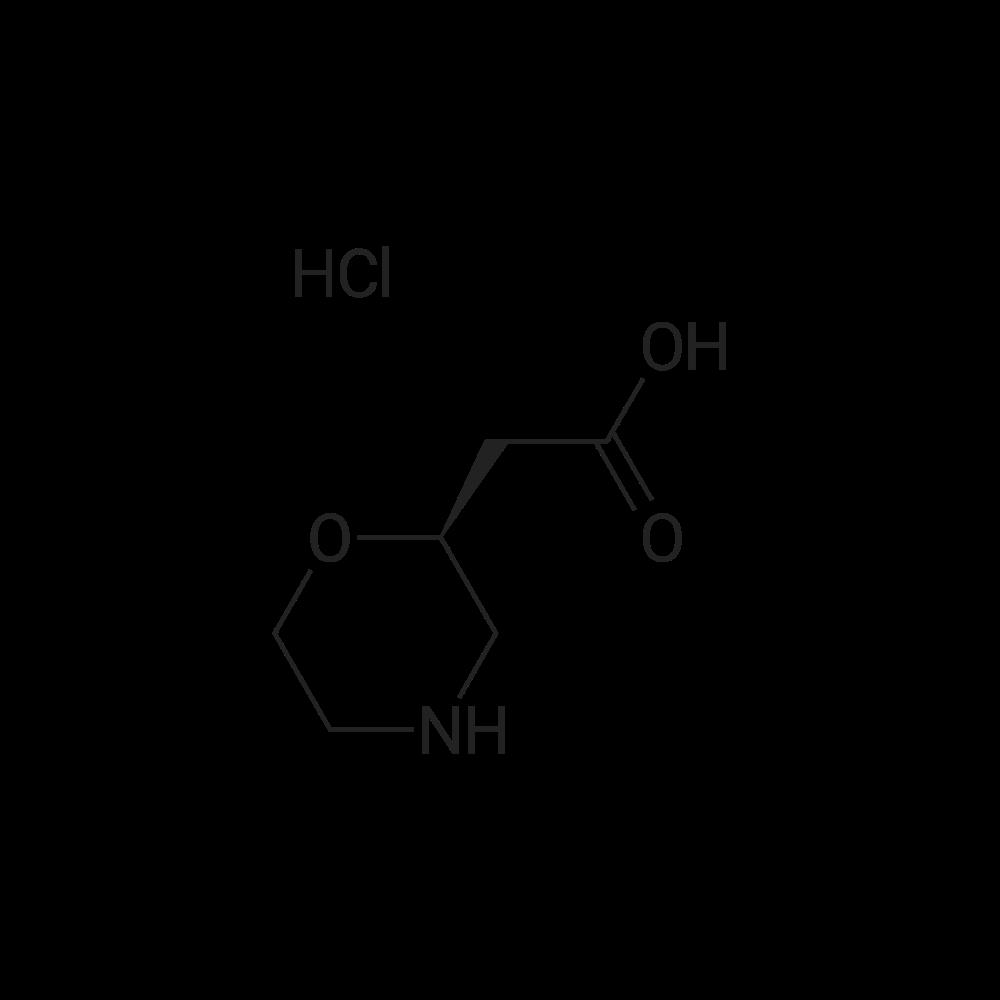 (S)-2-(Morpholin-2-yl)acetic acid hydrochloride