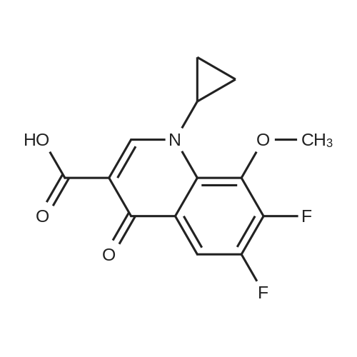 1-Cyclopropyl-6,7-difluoro-8-methoxy-4-oxo-1,4-dihydroquinoline-3-carboxylic acid