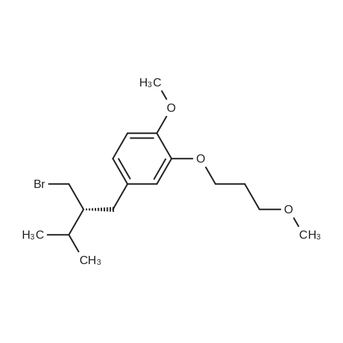 2-(3-Methoxypropoxy)-4-((R)-2-(bromomethyl)-3-methylbutyl)-1-methoxybenzene