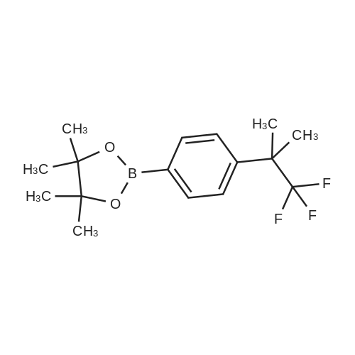 4,4,5,5-Tetramethyl-2-(4-(1,1,1-trifluoro-2-methylpropan-2-yl)phenyl)-1,3,2-dioxaborolane