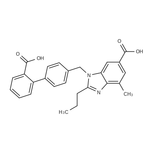 1-((2'-Carboxy-[1,1'-biphenyl]-4-yl)methyl)-4-methyl-2-propyl-1H-benzo[d]imidazole-6-carboxylic acid