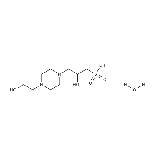 3-[4-(2-Hydroxyethyl)-1-piperazinyl]-2-hydroxypropanesulfonic Acid Hydrate