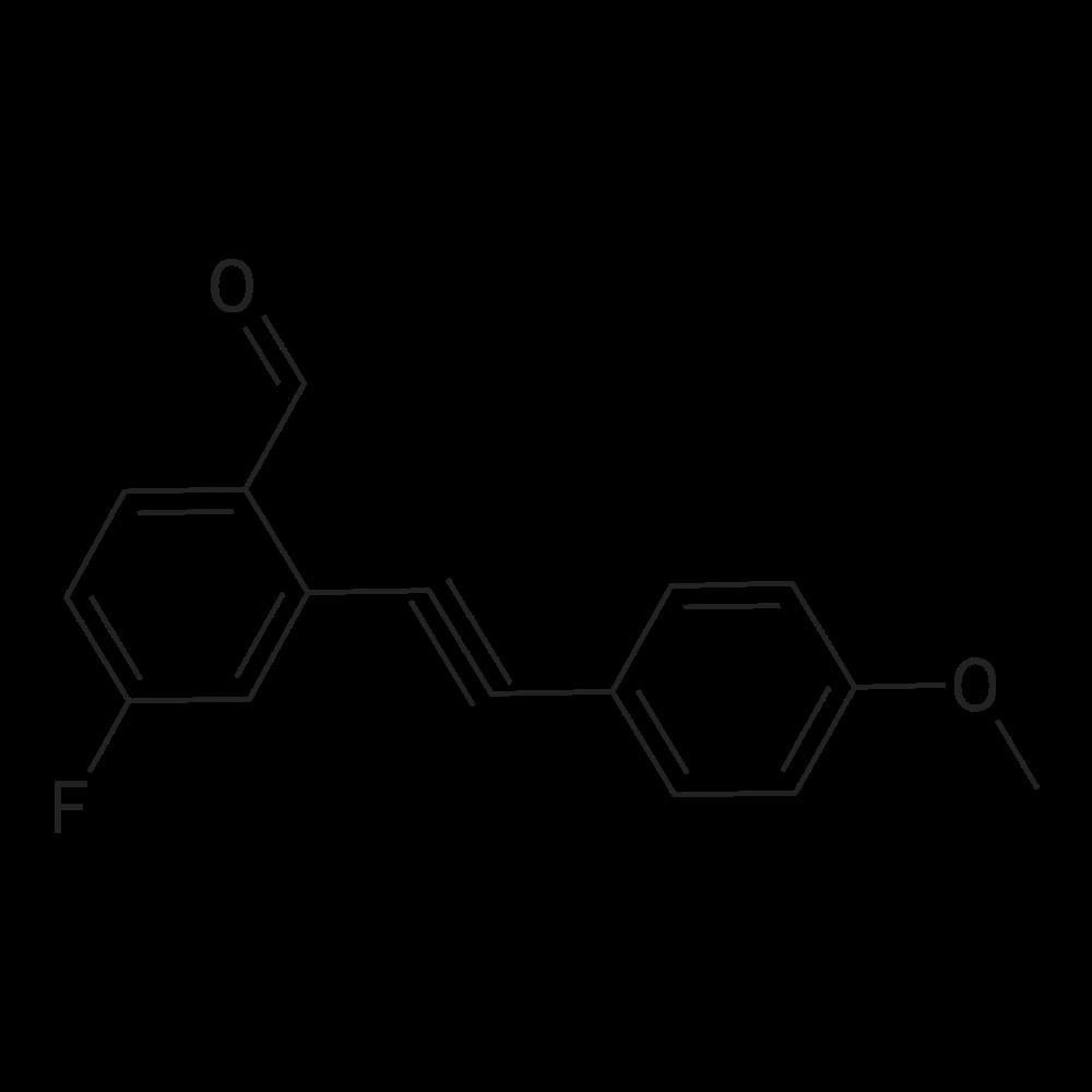 4-Fluoro-2-((4-methoxyphenyl)ethynyl)benzaldehyde