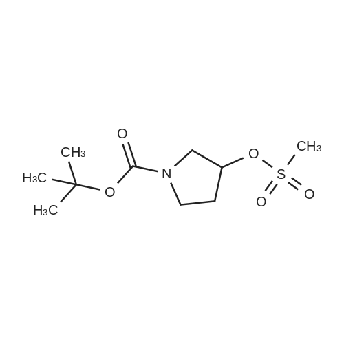 tert-Butyl 3-((methylsulfonyl)oxy)pyrrolidine-1-carboxylate