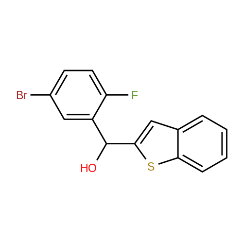 Benzo[b]thiophen-2-yl(5-bromo-2-fluorophenyl)methanol