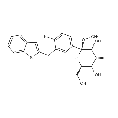 (2S,3R,4S,5S,6R)-2-(3-(Benzo[b]thiophen-2-ylmethyl)-4-fluorophenyl)-6-(hydroxymethyl)-2-methoxytetrahydro-2H-pyran-3,4,5-triol