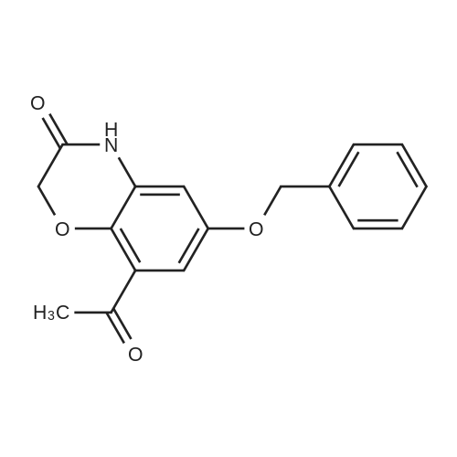 8-Acetyl-6-(benzyloxy)-2H-benzo[b][1,4]oxazin-3(4H)-one