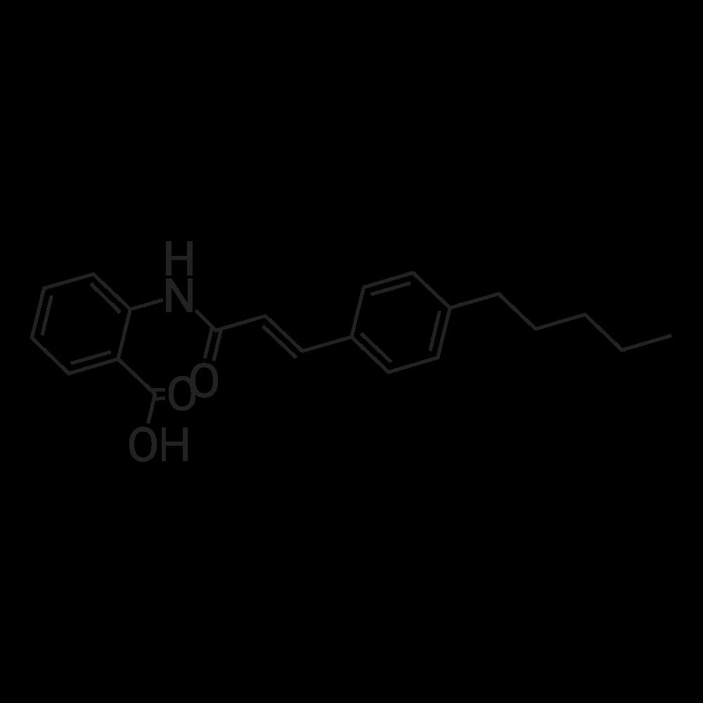 2-(3-(4-Pentylphenyl)acrylamido)benzoic acid