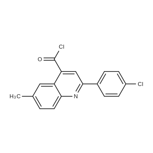 2-(4-Chlorophenyl)-6-methylquinoline-4-carbonyl chloride