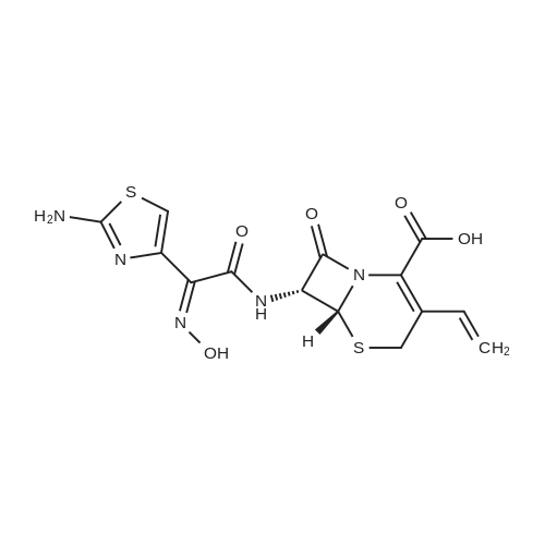 (6R,7R)-7-((Z)-2-(2-Aminothiazol-4-yl)-2-(hydroxyimino)acetamido)-8-oxo-3-vinyl-5-thia-1-azabicyclo[4.2.0]oct-2-ene-2-carboxylic acid