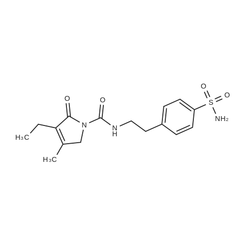 4-[2-[(3-Ethyl-4-methyl-2-oxo-3-pyrrolin-1-yl)carboxamido]ethyl]benzenesulfonamide