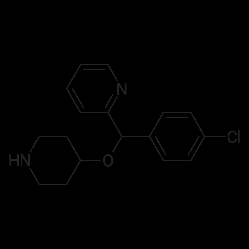 2-((4-Chlorophenyl)(piperidin-4-yloxy)methyl)pyridine