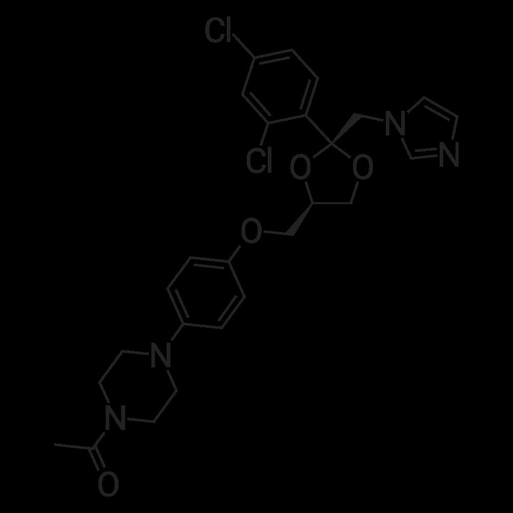 cis-1-Acetyl-4-[4-[[2-(2,4-dichlorophenyl)-2-(imidazol-1-ylmethyl)-1,3-dioxolan-4-yl]methoxy]phenyl]piperazine