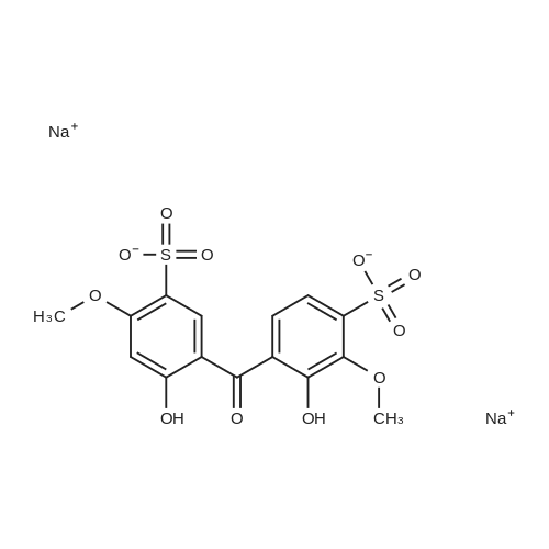 3-Hydroxy-4-(2-hydroxy-4-methoxy-5-sulfobenzoyl)-2-methoxybenzenesulfonic acid, disodium salt