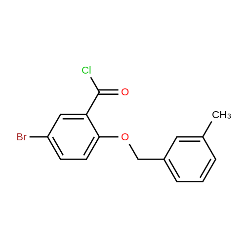 5-Bromo-2-((3-methylbenzyl)oxy)benzoyl chloride