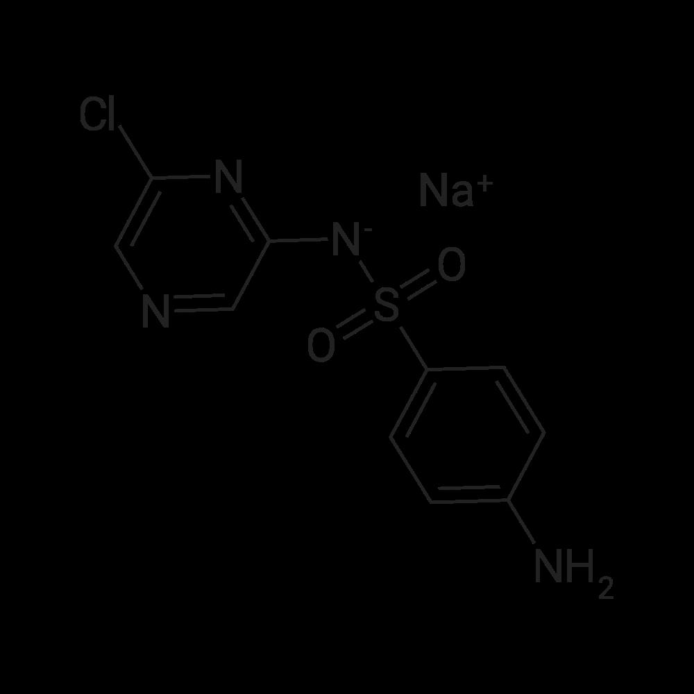 Sodium ((4-aminophenyl)sulfonyl)(6-chloropyrazin-2-yl)amide