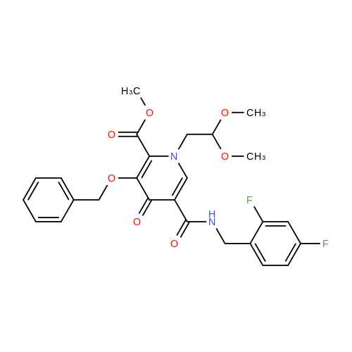 Methyl 3-(benzyloxy)-5-((2,4-difluorobenzyl)carbamoyl)-1-(2,2-dimethoxyethyl)-4-oxo-1,4-dihydropyridine-2-carboxylate