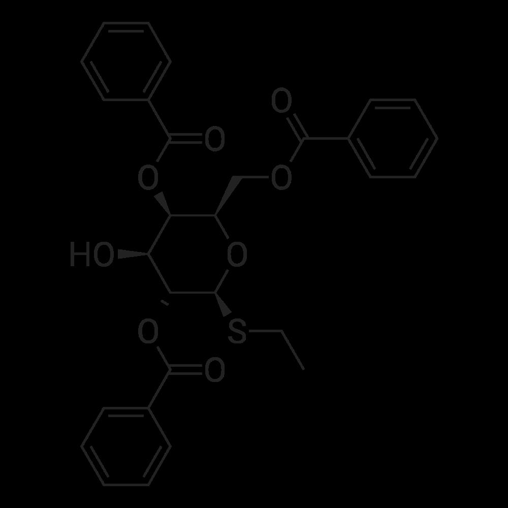 (2R,3R,4S,5R,6S)-2-((Benzoyloxy)methyl)-6-(ethylthio)-4-hydroxytetrahydro-2H-pyran-3,5-diyl dibenzoate