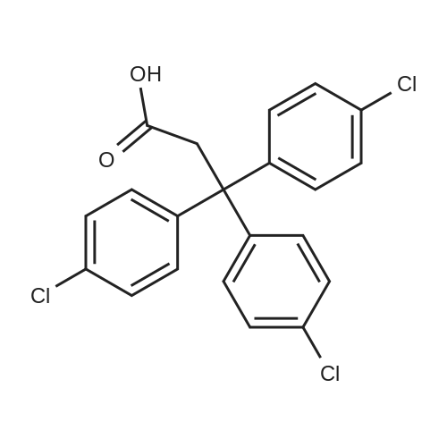 3,3,3-Tris(4-chlorophenyl)propionic acid