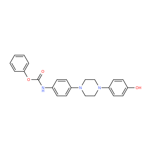 Phenyl (4-(4-(4-hydroxyphenyl)piperazin-1-yl)phenyl)carbamate