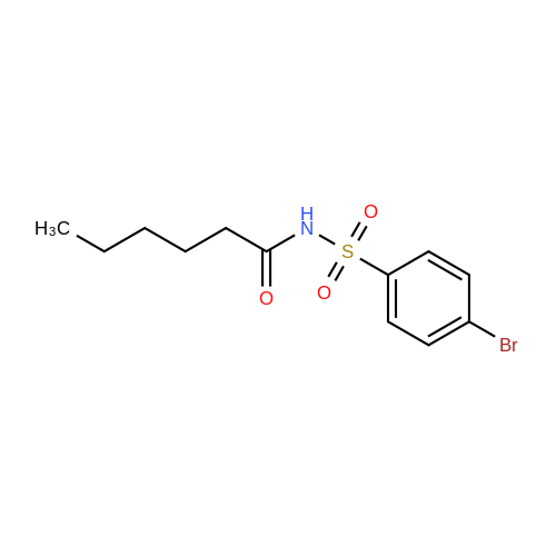 N-((4-Bromophenyl)sulfonyl)hexanamide