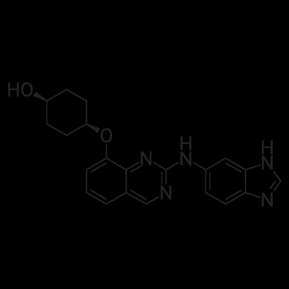 cis-4-((2-((1H-Benzo[d]imidazol-6-yl)amino)quinazolin-8-yl)oxy)cyclohexanol