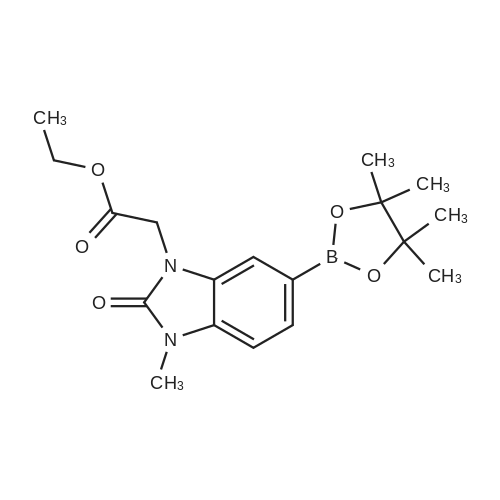 Ethyl 2-(3-methyl-2-oxo-6-(4,4,5,5-tetramethyl-1,3,2-dioxaborolan-2-yl)-2,3-dihydro-1H-benzo[d]imidazol-1-yl)acetate