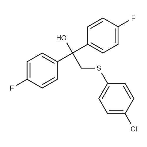 2-[(4-Chlorophenyl)sulfanyl]-1,1-bis(4-fluorophenyl)ethan-1-ol