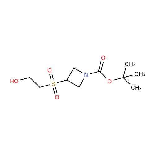 tert-Butyl 3-((2-hydroxyethyl)sulfonyl)azetidine-1-carboxylate