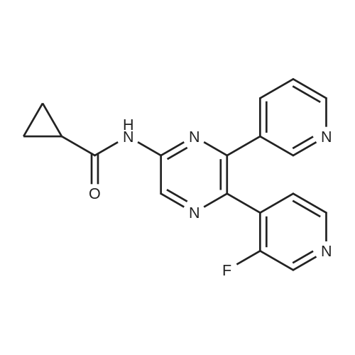 N-(5-(3-Fluoropyridin-4-yl)-6-(pyridin-3-yl)pyrazin-2-yl)cyclopropanecarboxamide