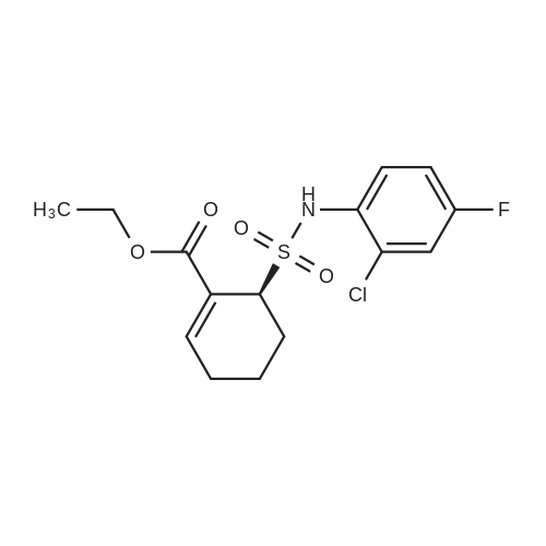 (S)-Ethyl 6-(N-(2-chloro-4-fluorophenyl)sulfamoyl)cyclohex-1-enecarboxylate