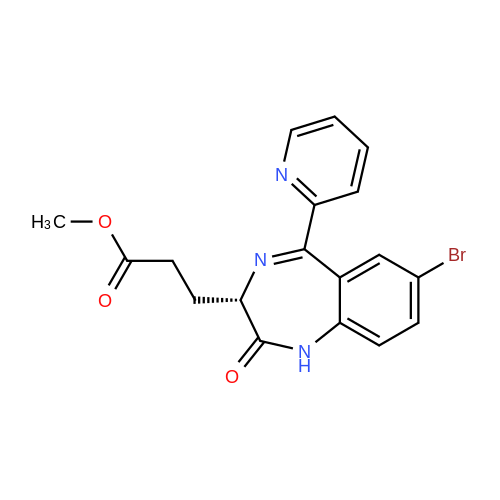 (S)-Methyl 3-(7-bromo-2-oxo-5-(pyridin-2-yl)-2,3-dihydro-1H-benzo[e][1,4]diazepin-3-yl)propanoate